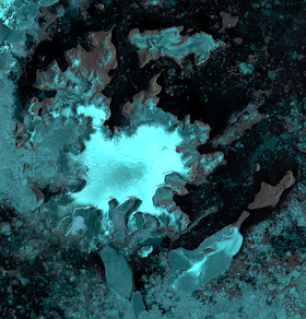 James Ross Island group, northeastern Antarctic Peninsula. Image fusion of Landsat 8 OLI and Sentinel 1A SAR images.png