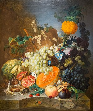 Jan van Os - Still Life with Fruit, 1769, on display at the Frick Art & Historical Center