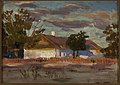 Jan Stanisławski - Cold day (A house in the sun) - 35894 MNW - National Museum in Warsaw.jpg