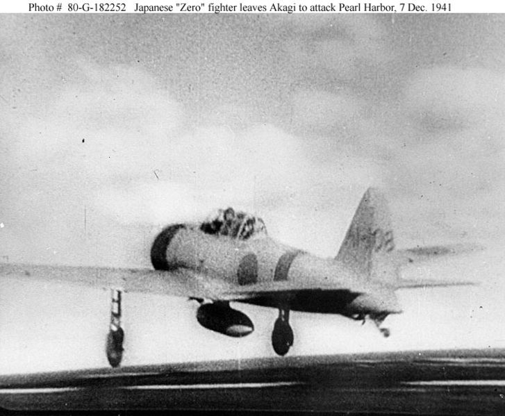 ملف:Jap Zero leaves Akagi-Pearl Harbor.jpg