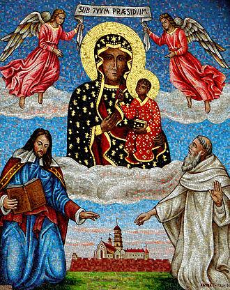 Black Madonna of Częstochowa - Black Madonna mosaic at Jasna Góra.