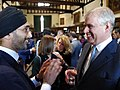 Jasvir Singh OBE speaking with HRH The Duke of York, KG, GCVO, CD at Windsor Castle.jpg