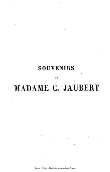 File:Jaubert - Souvenirs de Madame C. Jaubert. Lettres et correspondances.djvu