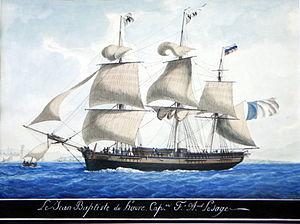Antoine Roux - Antoine Roux, Jean-Baptiste du Havre in Marseille harbour, watercolor, Marseille Naval Museum