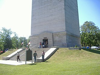 Jefferson Davis State Historic Site - Image: Jeff Davis KY monument base