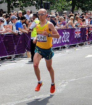 Jeff Hunt (athlete) - Hunt in the marathon at the 2012 Olympics in London