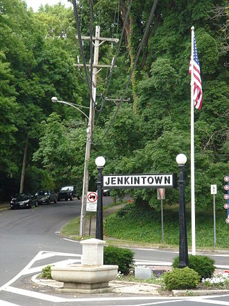 Jenkintown, Pennsylvania - View entering Jenkintown from Wyncote