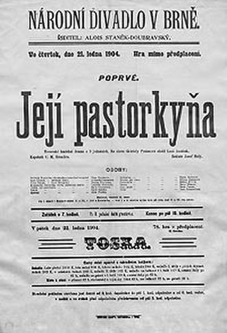 Jenůfa - Poster for the premiere, 1904