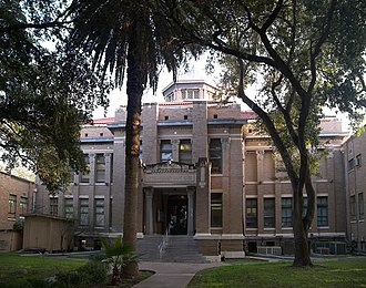 Alice, Texas - Jim Wells County Courthouse, architect Atlee B Ayres