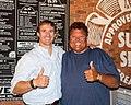 Jimmy John Liautaud and Jimmy John's Franchise Owner Drew Brees.jpg