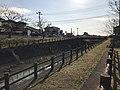 Jinyagawa River in Kitano, Kurume, Fukuoka 2.jpg