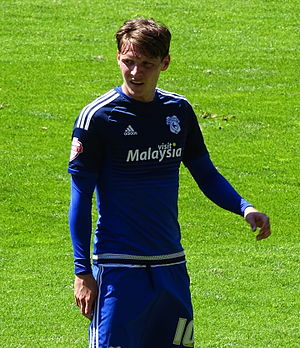 Joe Mason (footballer, born 1991) - Mason playing for Cardiff City in 2015