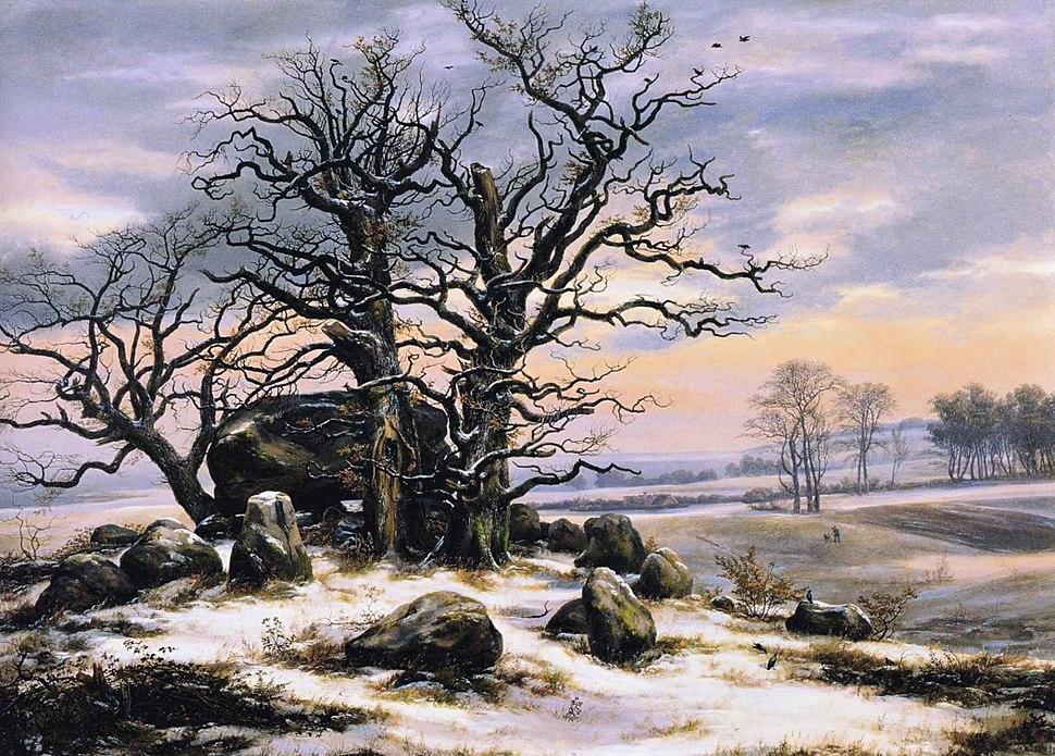 Johan Christian Dahl - Megalith Grave in Winter