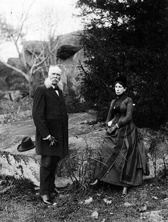 John B. Bachelder - Image: John Bachelder with his wife taken at Gettysburg PA 1890