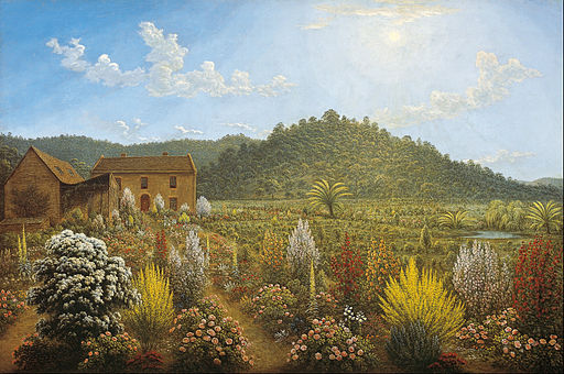 John Glover - A view of the artist's house and garden, in Mills Plains, Van Diemen's Land - Google Art Project
