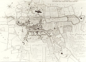 Lichfield - Map of Lichfield in 1781