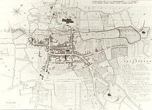 Lichfield - Map of Lichfield in 1781