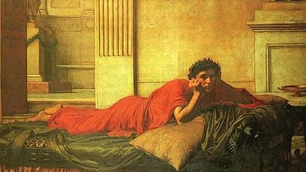 The Remorse of Nero after the Murder of his Mother, by John William Waterhouse John William Waterhouse - The Remorse of the Emperor Nero after the Murder of his Mother.JPG