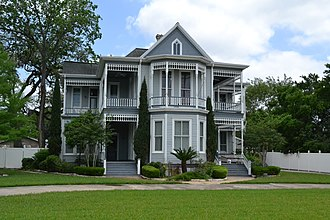 National Register of Historic Places listings in DeWitt County, Texas - Image: John Y. Bell House, Cuero, Texas