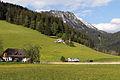 Johnsbach - Nationalpark Gesäuse - Helikopter OE-XHM von Wucher - im Hintergrund das Hochtor.jpg