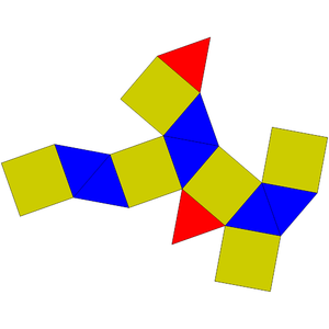 Triangular orthobicupola - Image: Johnson solid 27 net