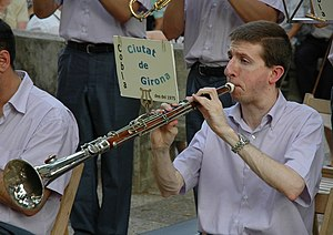 Catalan shawm - Catalan tenora in the cobla Ciutat de Girona