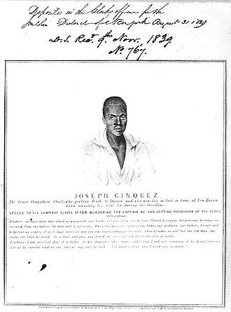 Joseph Cinqué - A print of Cinqué that appeared in The Sun on August 31, 1839