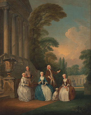 Joseph Francis Nollekens - Portrait of a Family (1740), by Joseph Francis Nollekens