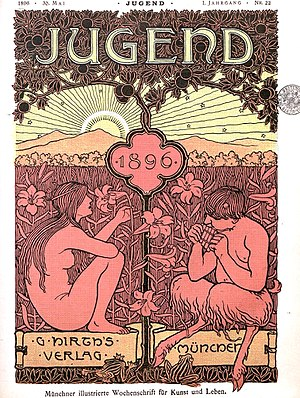 Jugend (magazine) - 1896 edition cover of Jugend
