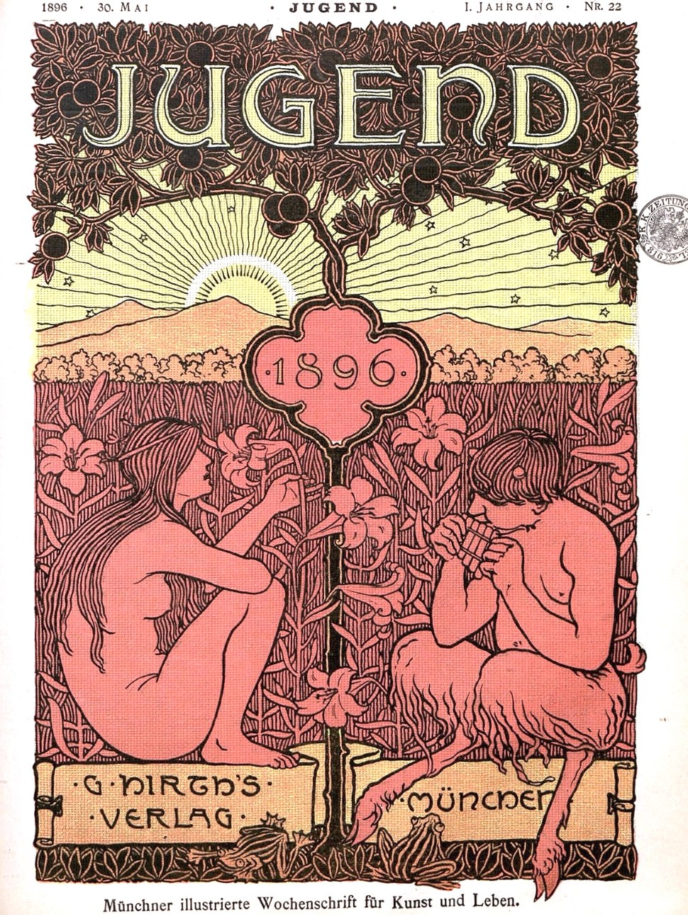 Jugend magazine cover 1896