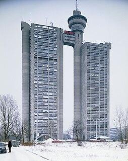 Western City Gate Building in Belgrade, Serbia