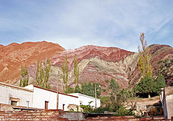 View of the Quebrada de Humahuaca form the Ruta Provincial 52, that climbs up to 4200 a.s.l