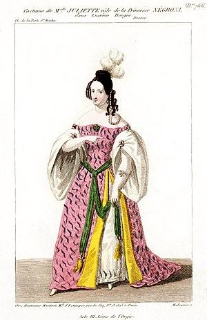Juliette Drouet - Juliette Drouet as Princess Negroni in Lucrèce Borgia
