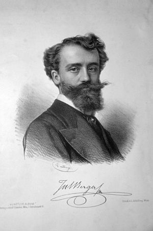 Julius Victor Berger - Julius Victor Berger, Lithograph by Adolf Dauthage, c. 1880