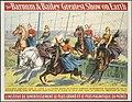 Jumping horses - The Barnum & Bailey greatest show on earth - L'Institut de divertissement le plus grand et le plus magnifique du monde.jpg