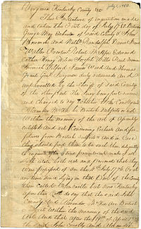 Jury finding Kentucky County Virginia John Connolly Daniel Boone 1780