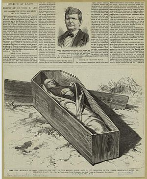 Mountain Meadows massacre - Justice At Last! – Leslie's Monthly Magazine article of 1877.