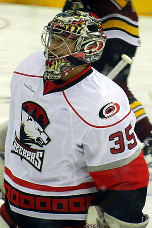 Justin Peters - Peters with the Charlotte Checkers in 2012.