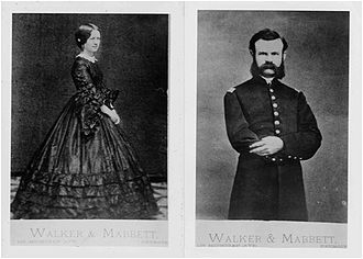 John Wesley Powell - John Wesley Powell and his wife, Emma, in Detroit in 1862.