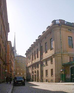 Källargränd - Façade of the Stock Exchange Building.