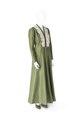 KLÄNNING Av grön sidentaft med underklänning. Tillhört Ebba von Eckermann - Hallwylska museet - 89339.tif