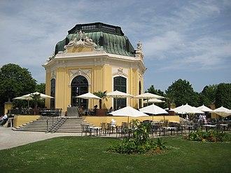 Tourist attractions in Vienna - The Imperial Breakfast Pavillion in the centre of Tiergarten Schonbrunn