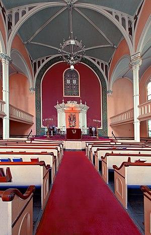 Congregation Baith Israel Anshei Emes - Sanctuary interior.