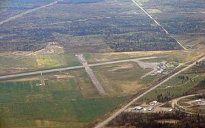 Kapuskasing Airport - Aerial view of Kapuskasing Airport