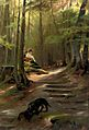 Karl Raupp - The nosy Dachshound, a sunny spot in the woods.jpg