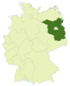Map of Germany with the location of Brandenburg highlighted