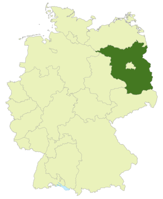 Brandenburg-Liga - Image: Karte DFB Regionalverbände BB