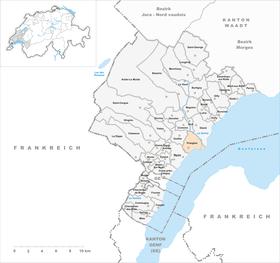Map of Prangins