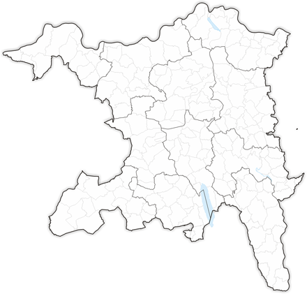 Municipalities (and districts) in the canton of Aargau