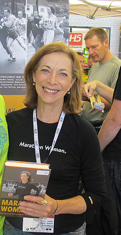 Kathrine Switzer at the 2011 Berlin Marathon Expo.jpg